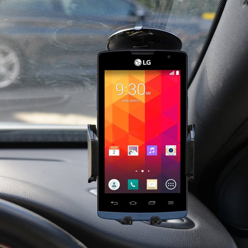 Samrick 360 Degree Rotation Car Dashboard Mount/Holder for LG Joy (Black) (Intl)