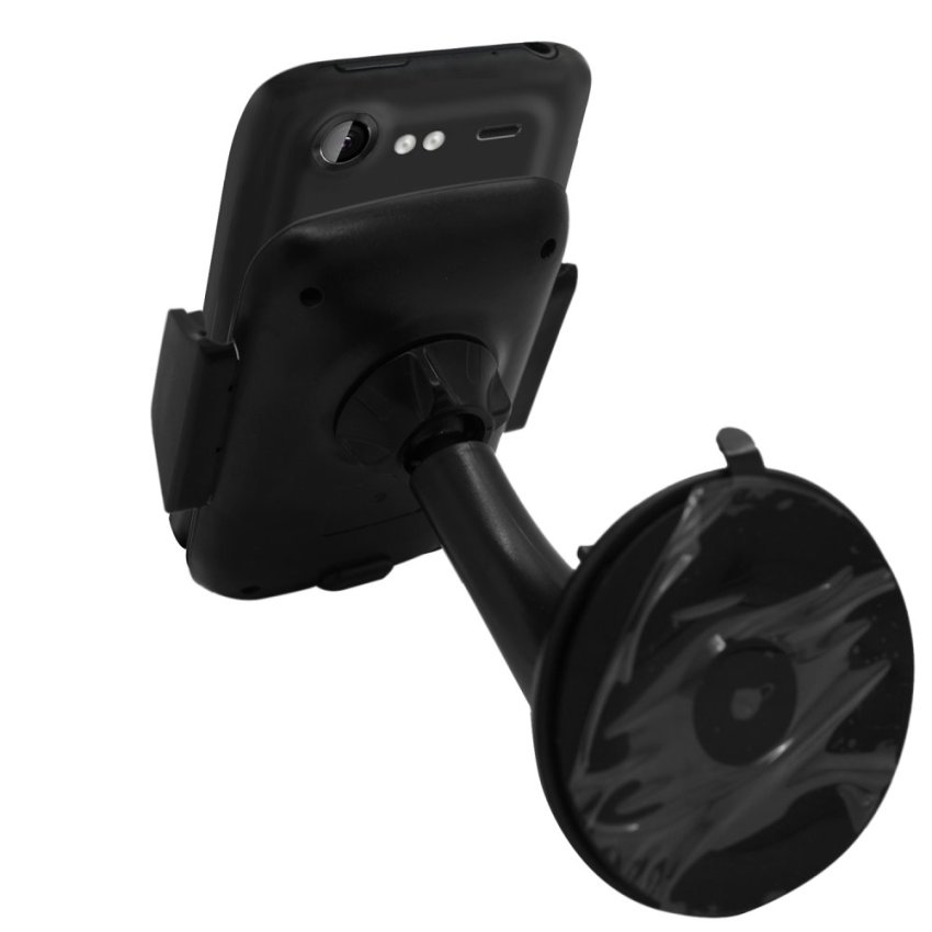 Samrick Specially Made To Measure 360 Degree Rotation Car Windscreen/Dashboard Mount/Holder With One-Step Mounting Technology for HTC Incredible S (Black) (Intl)
