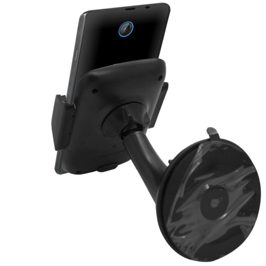 Samrick Specially Made To Measure 360 Degree Rotation Car Windscreen/Dashboard Mount/Holder With One-Step Mounting Technology for ZTE Kis 3 Max (Black) (Intl)