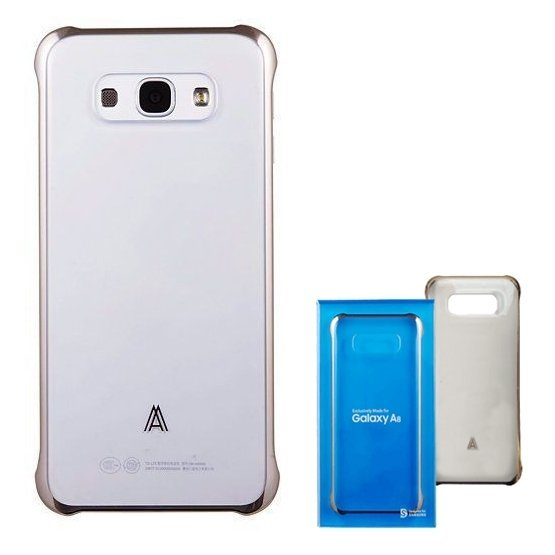 Samsung Case Clear Cover for Samsung Galaxy A8 - Gold