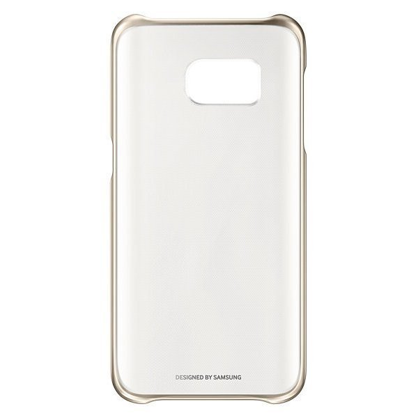 Samsung Clear Cover Galaxy S7 Flat - Gold