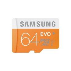 Samsung EVO 64GB Class 10 Micro SDXC Memory Card Original - Orange