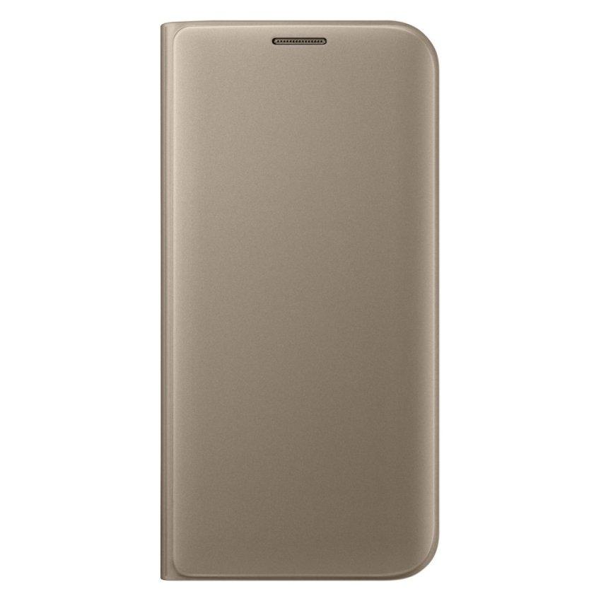 Samsung Flip Wallet Cover Case Original for Galaxy S7 Edge - Gold
