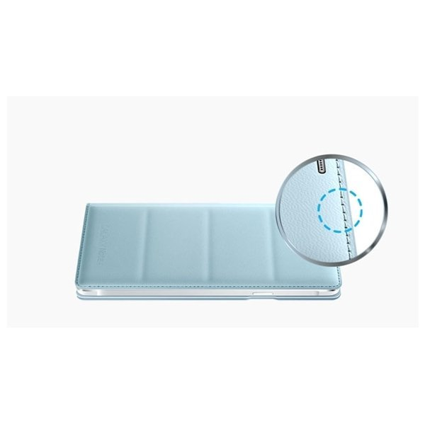 Samsung Flip Wallet Cover Galaxy Note 4 Mint Original