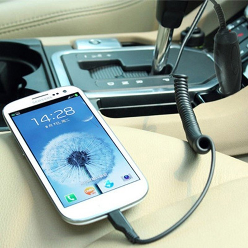 Samsung Micro USB Car Charger for Mobile Phone - Hitam