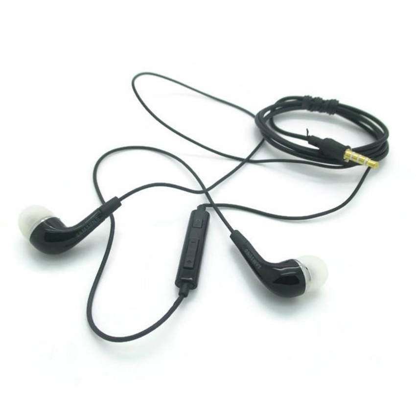 Samsung Original Stereo Headset For Samsung Galaxy - Hitam
