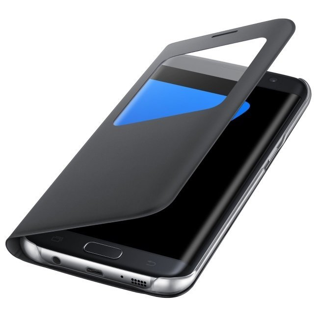 Samsung S-View Cover Galaxy S7 Edge - Hitam
