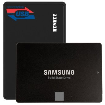 SAMSUNG SSD 750 EVO 500GB SATA3 Powered by 3D V-NAND Technology with SSD External Case USB3.0 Super ...