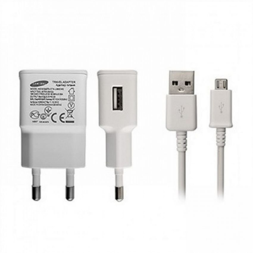 Samsung Travel Charger dan Micro USB Device - Putih