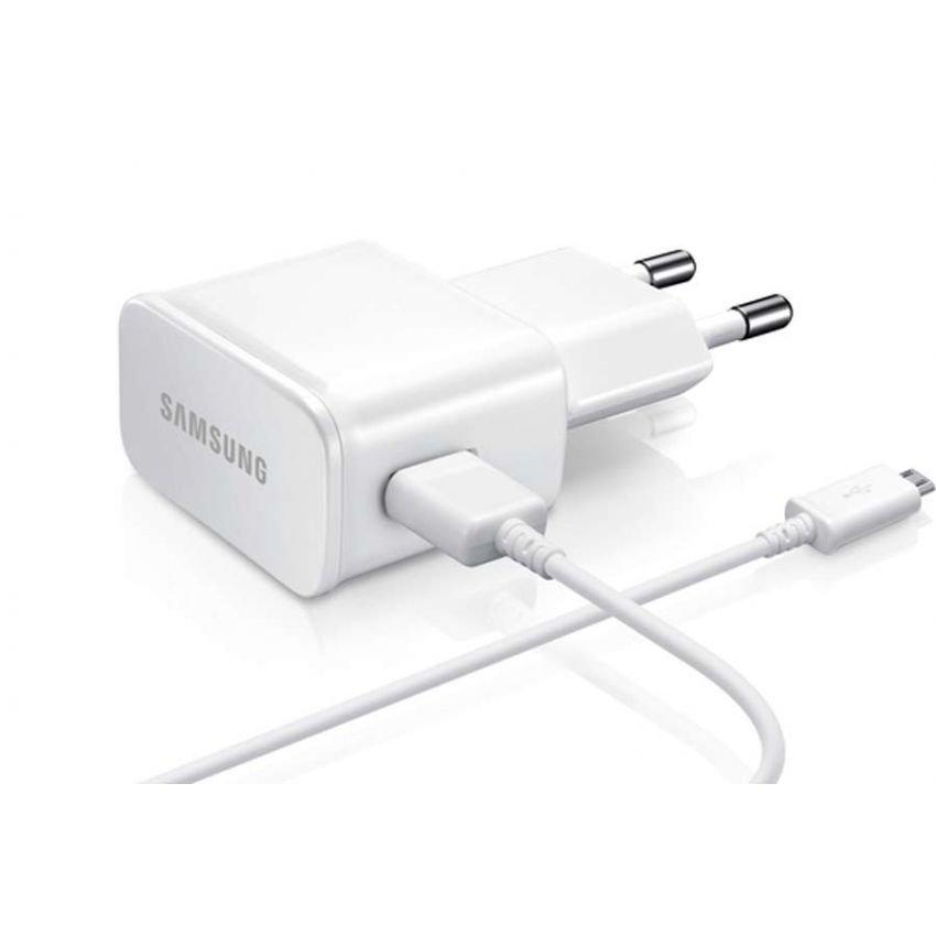 Samsung Travel Charger For Samsung S4/TAB 3 + Cable USB Micro - Putih
