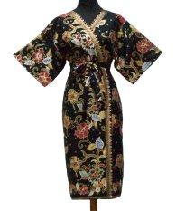 Sanny Apparel B 393 Kimono Batik - Hitam