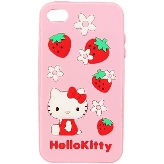 Sanrio Hello Kitty Silicon Case For Iphone 4 SAN-101KTB