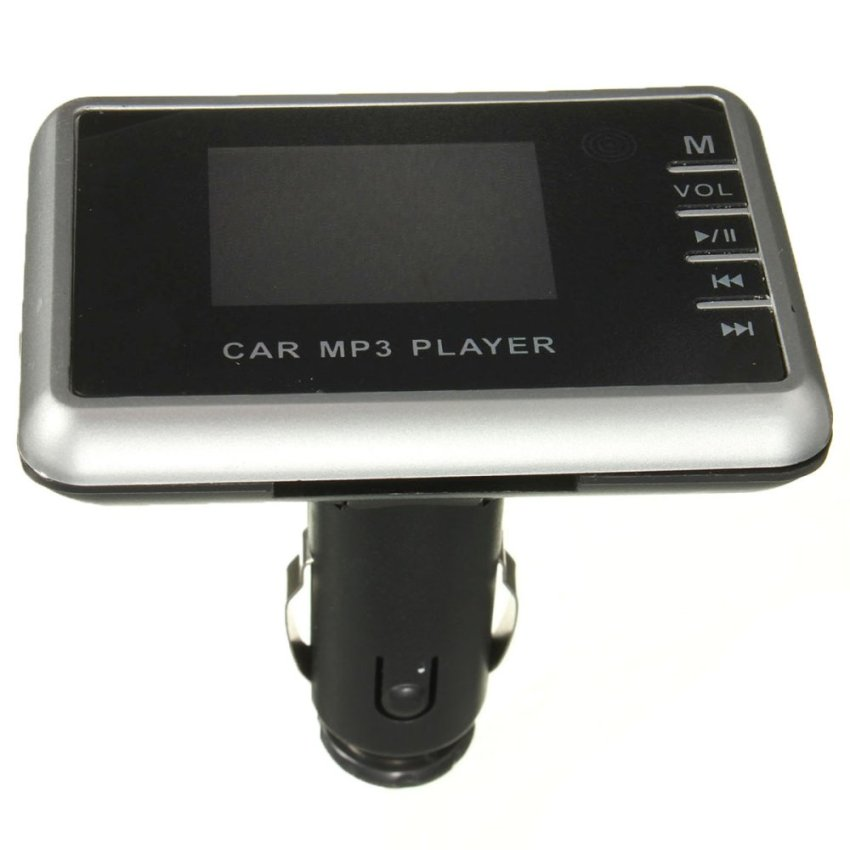 Sans Fil LCD Voiture Kit Allume Cigare MP3 FM Transmetteur USB Chargeur TF SD Silver (Intl)