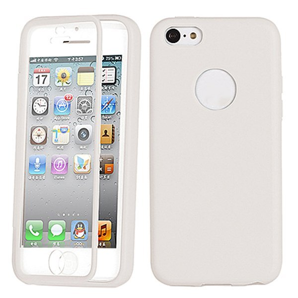 Sanwood TPU Wrap Up Phone Case Cover For Apple iPhone 5C White