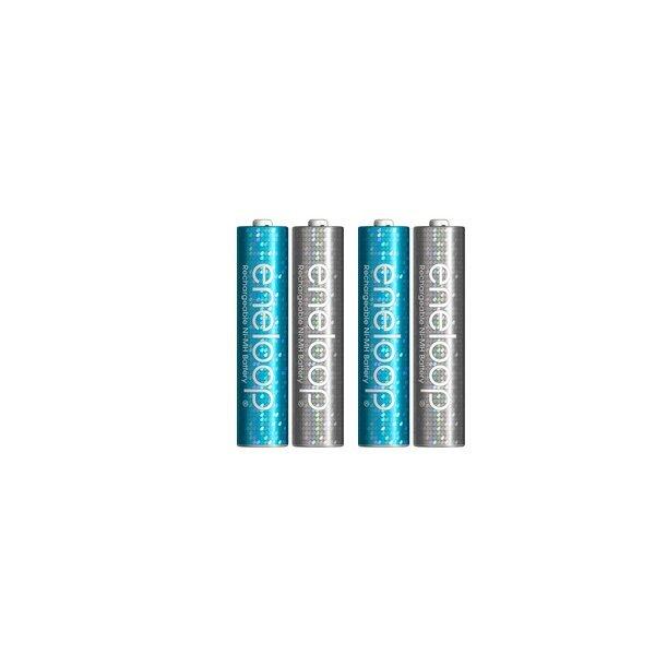 Sanyo Eneloop Battery Chargeable Glitter AAA 750mAh 4pcs - Silver / Biru