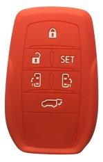 Sarung Kunci Silikon for Toyota All New Alphard - Merah