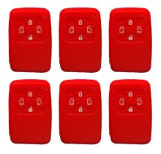 Sarung Kunci Silikon for Toyota Alphard 4 Tombol - Merah