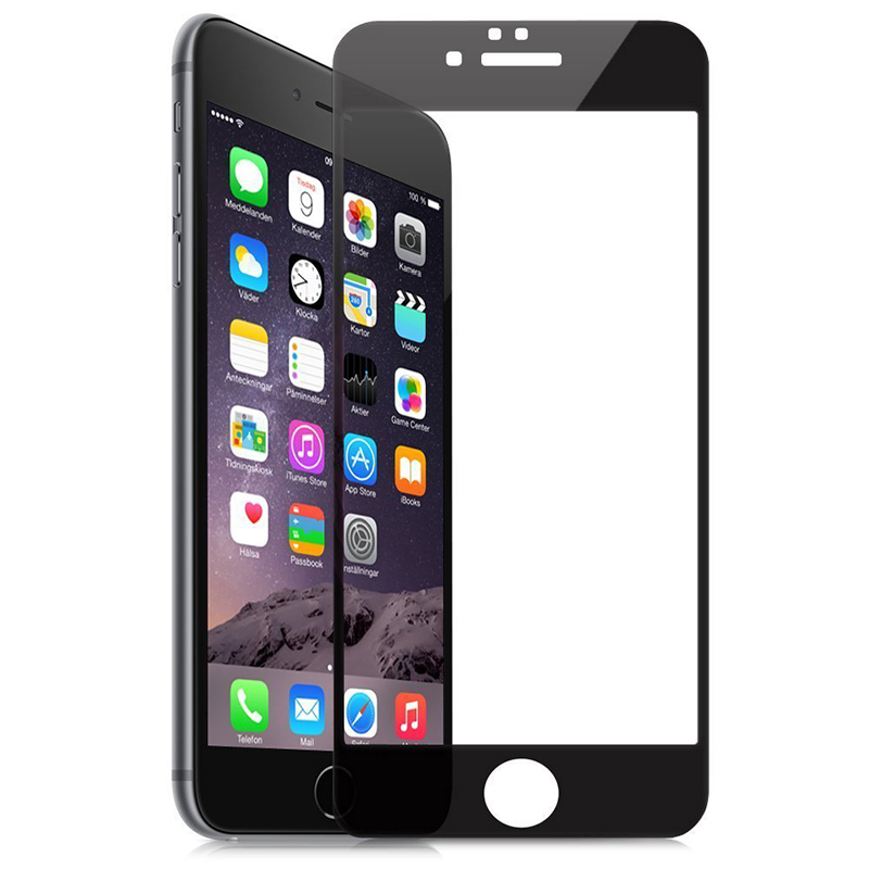 Screen Protector Film Full-Cover for iPhone 6 (Black) (Intl)