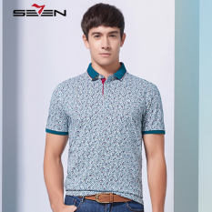 Seven Brand Casual Men Polo Shirt T Printed Pattern Homme Sport Jersey Green - Intl
