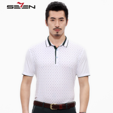 Seven Brand Man Printed Polo Tshirt Sport Men Short Sleeve White