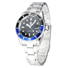 Sewor Automatic Mechanical Watches Screw Crown Swiss Movement Men's Fashion Steel Business WristWatches - Intl