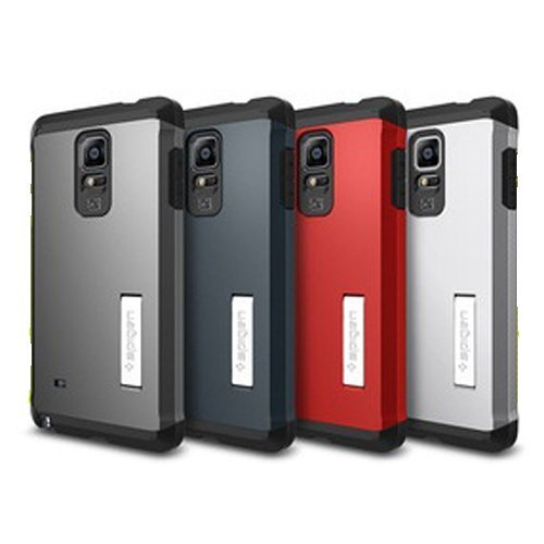 SGP Tough Armor Plastic + TPU Combination Case with Kickstand for Galaxy Note 4  - Hijau