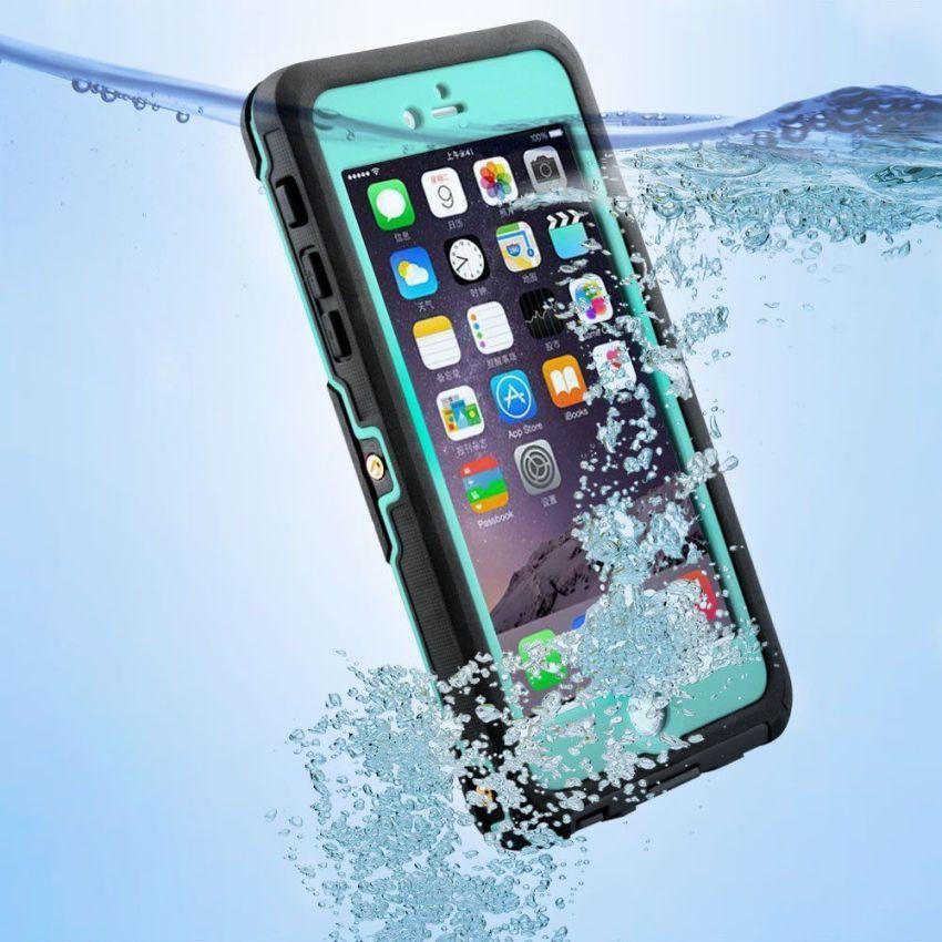 Silicone Gel + PC Waterproof/Shockproof Case for iPhone 6/6s Plus (MintGreen) (Intl)