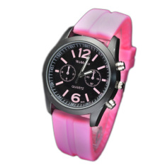 Silicone Ladies Watch - (9656) (Intl)