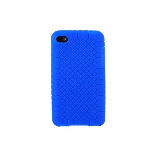 Silicone Open-Face Designed Case for iPhone 5 Blue