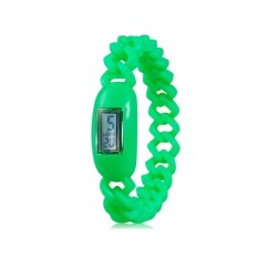 Silicone Waterproof Anion Negative Ion Sports Bracelet Wrist Watch With Calendar Display (Green) (Intl)
