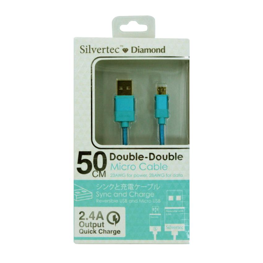 Silvertec Double Double Micro Cable 1.2m - Biru