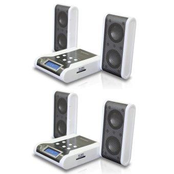 Simbadda Portable Speaker PMC 280 2Pcs - Putih