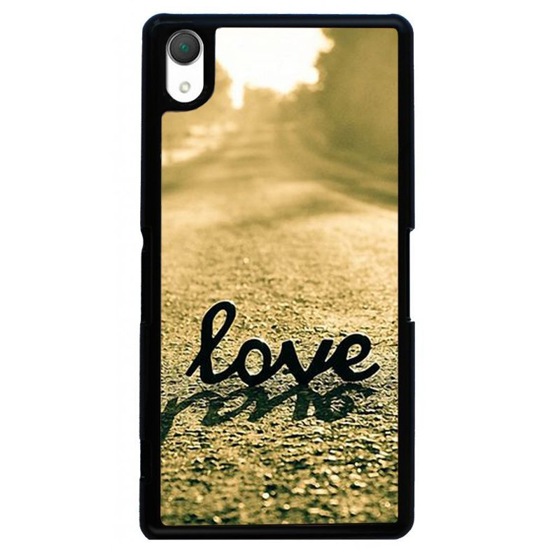 Simple Love Painting Phone Case for SONY Xperia Z4 (Black)