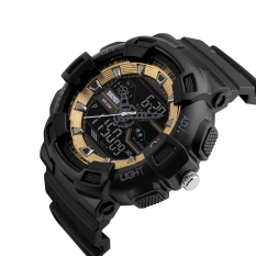 SimpleHome Skmei 1189 Personalized Outdoor Sports Big Dial Pointer Dual Display Electronic Watches Waterproof Gold - Intl