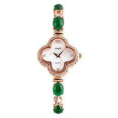SimpleHome Skmei 1194 Ms. Crystal Clover Diamond Fashion Business Quartz Watch Green - Intl