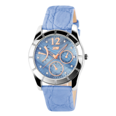 SimpleHome Skmei 6911 Ms. Korean Version Of The Exquisite Leather Belt Quartz Watch Blue - Intl