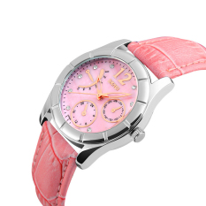 SimpleHome Skmei 6911 Ms. Korean Version Of The Exquisite Leather Belt Quartz Watch Pink (New) Pink - Intl