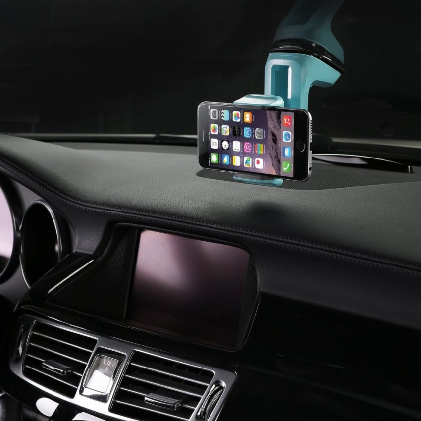SINOKAL Universal Dashboard Windshield Phone Car Mount Holder for Apple iphone Samsung Nokia (Intl)
