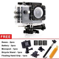 SJ4000 1080P 12MP Full HD Sport Action Camera + 3 Battery+ Super Kits(Black) - Intl
