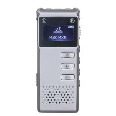 SK-818 Portable Mini Multi-functional Rechargeable 8GB Digital Audio Voice Recorder Pen Dictaphone MP3 Player For Meetings Lectures Conversations Presentations Students Learning (Silver) - Intl