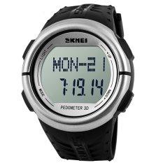 Skmei 1058 High Quality Women & Men Sport Wristhwatch Waterproof 50M Silver