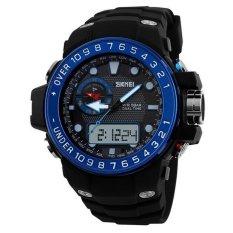 SKMEI 1063 Men Sports Watches Dual Display Big Dial Waterproof Watch