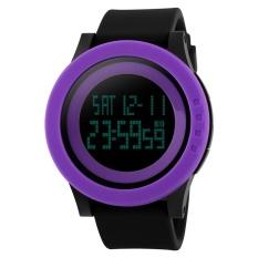 Skmei 1142 Outdoor Sports Watch Women Digital LED Fashion Casual Waterproof (Purple) - Intl