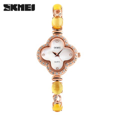SKMEI 1194 Women Luxury Fashion Casual Watches Shell Dial Woman Watch Crystal Strap 30M Waterproof Ladies Quartz Wristwatches