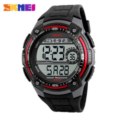 Skmei Brand New Sport Watch Fashion Electronic Led Digital Men Watch Shock Wrist Watch, Red - Intl