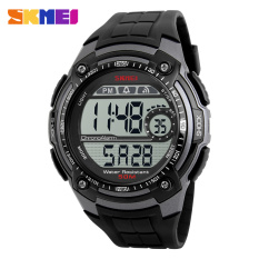 Skmei Brand New Sport Watch Fashion Electronic Led Digital Men Watch Shock Wrist Watch, Titanium - Intl