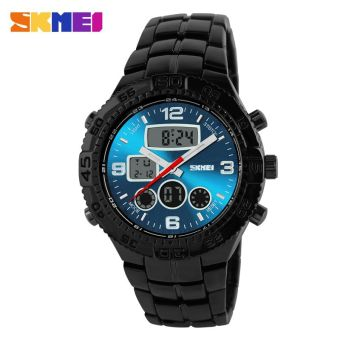 SKMEI Casio Men Sport LED Watch Water Resistant 30m - AD1030 - Black / Blue