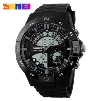 SKMEI Casio Men Sport LED Watch Water Resistant 50m - AD1110 - Black / Gray