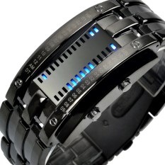 SKMEI Digital Lovers Fashion LED Stainless Wristwatches 2016 New L Black - Intl