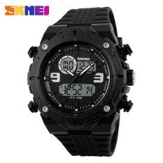 SKMEI Men Sport Analog LED Watch Water Resistant 50m - AD1156 - Black